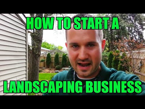 "How to Start a Landscaping Business ""RIGHT NOW"" With NO Startup Money"