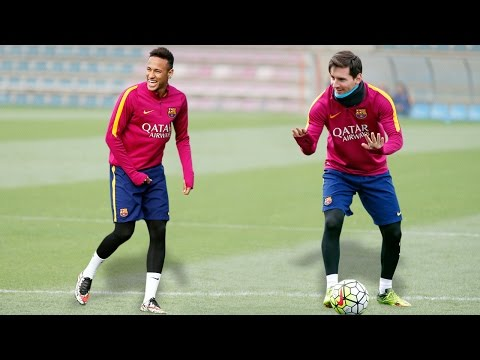 Training Skills - Leo Messi & Neymar Jr