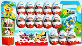 16 Kinder Surprise Eggs Unboxing (Old Series from 2007 - 2008 - 2009) Kinder Surprise Eggs
