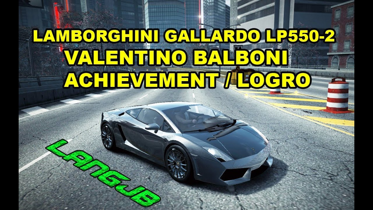 nfs world lamborghini gallardo lp550 2 valentino balboni achievement edition logro langjb. Black Bedroom Furniture Sets. Home Design Ideas