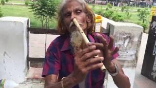 Amar sonar moyna pakhi using nose by flute