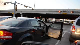 couple fighting at red light