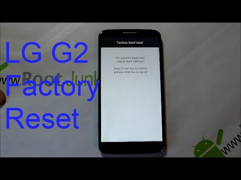 How To Factory Reset The Lg G2 Stock Recovery Youtube