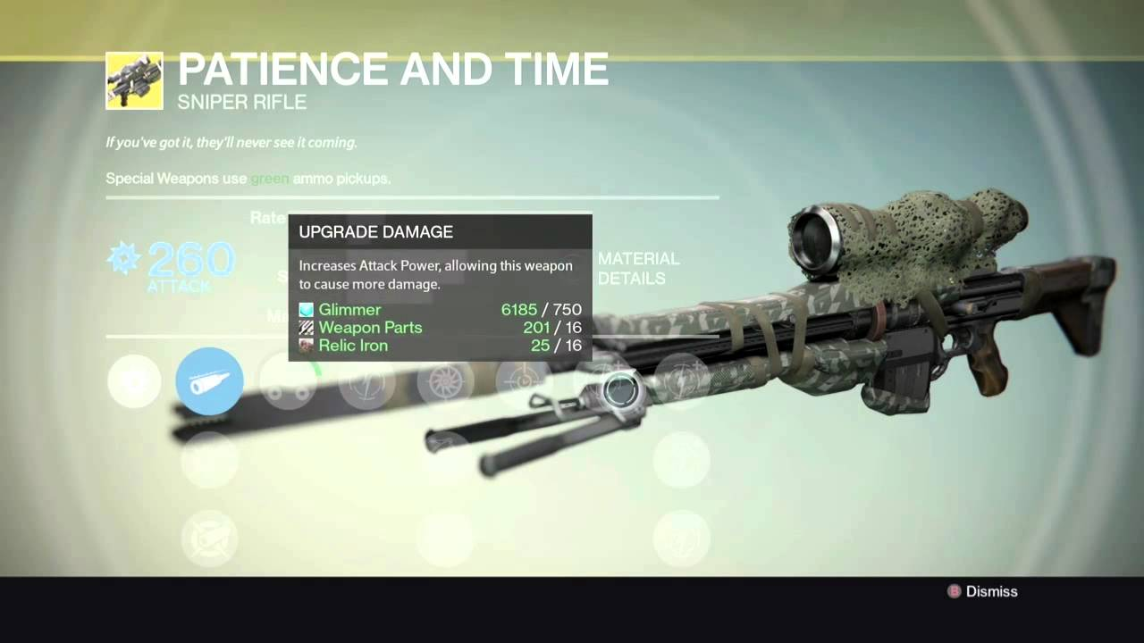 Destiny patience and time exotic sniper invective exotic shotgun