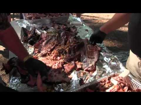 Pulling the Pork off a 120 pound hog