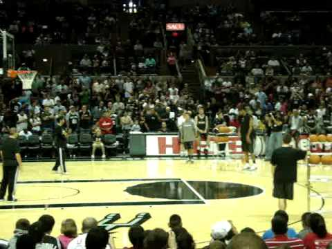 Tim Duncan: San Antonio Spurs in 3 point shootout and winning it