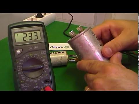 Cómo comprobar condensadores, capacitores eléctricos de electrodomesticos video 4 de 5