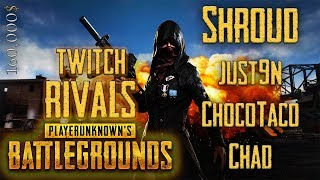 SHROUD - ALL 10 GAMES of TWITCH RIVALS PUBG Tournament  2018, May ($160k) - DEATHMATCHES!