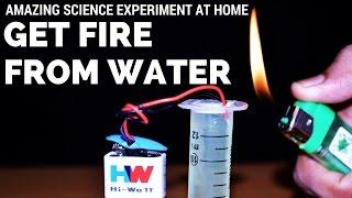 Comment sortir le feu hors de l'eau | Expériences scientifiques avec l'eau