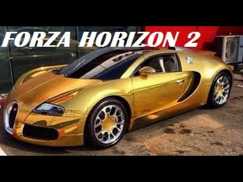 gold bugatti veyron super sport inside look racing forza horizon 2 youtube. Black Bedroom Furniture Sets. Home Design Ideas
