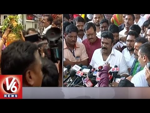 Talasani Srinivas Addressing Media After Secunderabad Ujjaini Mahankali Temple Visit | V6 News