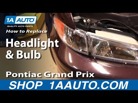How To Install Replace Headlight and Bulb Pontiac Grand Prix 97-03 1AAuto.com