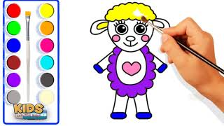 How to draw baby Suzy sheep Playground Fun to Learn Colors ❤ Doraemon super coloring pages for kids