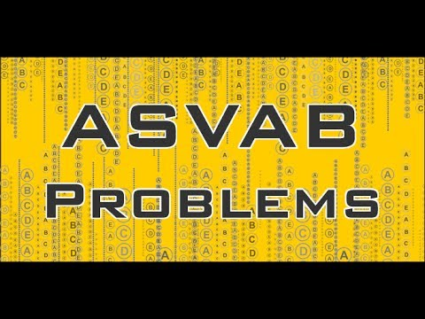 ASVAB Practice Test Problems -  Free ASVAB Math Review