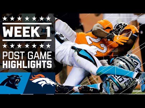 Panthers Vs Broncos Nfl Week 1 Game Highlights