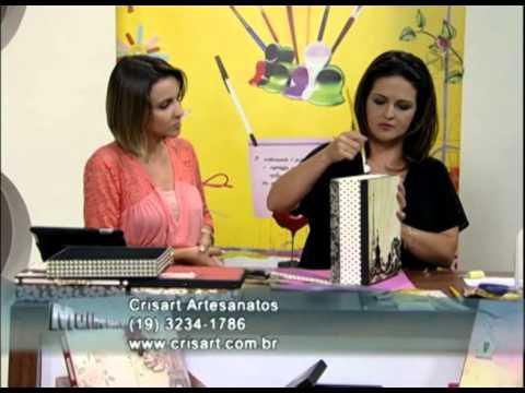 Mulher.com 11/01/2013 Marisa Magalhães - Forração de caixas com papéis decorativos de scrap 2/2