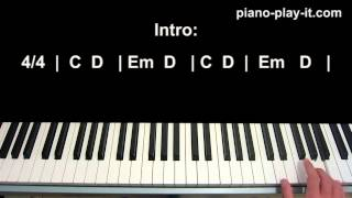 Let Her Go Piano Tutorial Passenger