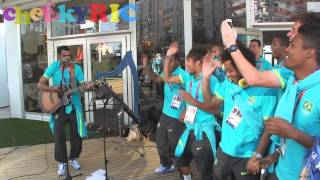 Brazil 2012 Olympic Football Team Singing
