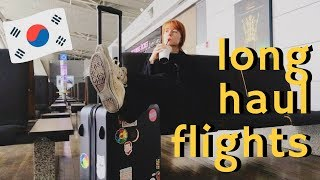 How to Survive Long Haul Flights | Flying Seoul to LAX on Singapore Airlines
