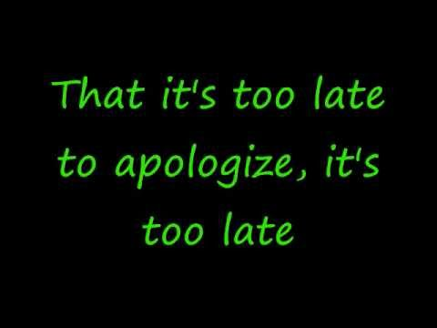 Onerepublic Apologize Lyrics video