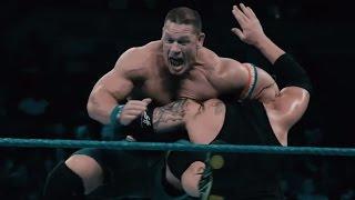 Astounding slowmotion footage of John Cena vs Baron Corbin Exclusive Jan 17 2017