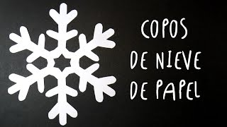 Manualidad como hacer COPOS DE NIEVE de PAPEL by ART Tv SUPER FACIL