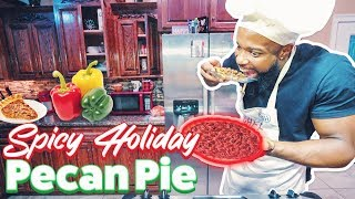PICKING PECANS & BAKING A SOUTHERN STYLE HOLIDAY SPICY PECAN PIE!