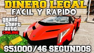 GTA 5 ONLINE DINERO LEGAL FACIL Y RAPIDO $51000 DOLARES EN 46 SEGUNDOS TIME TRIAL GTA V ONLINE