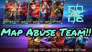 MAP ABUSE!! | Mobile Legends Themed Gameplay