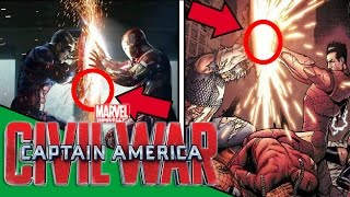 Capitán América: CIVIL WAR -  Referencias al Comic/ Easter Eggs