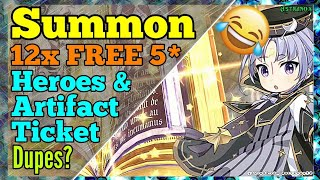 Epic Seven 12X 5 STARS SUMMONS (Heroes & Artifacts) Epic 7 Summoning [Free 5* Hero Art] Epic7 Summon