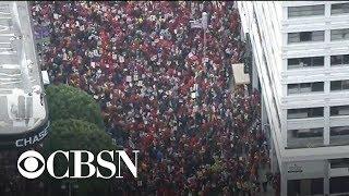 Los Angeles teachers strike for third day