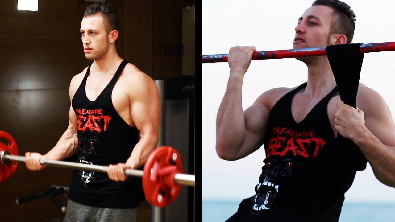 GYM vs. CALISTHENICS - 10 BEST Arm Exercises [HD] - YouTube