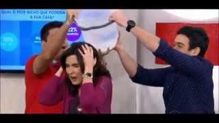 Fátima Bernades encara desafio do balde de gelo