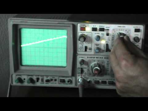 RLC tunning view with an oscilloscope.