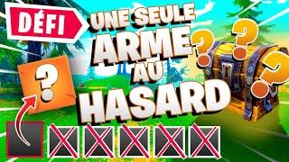 LA PIRE ARME!!🔥DÉFI : TOP 1 AVEC UNE SEULE ARME AU HASARD ! NOUVELLE SÉRIE FORTNITE SAISON 5 et 6