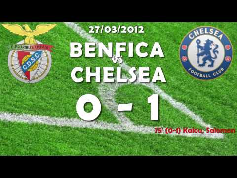 BENFICA CHELSEA 0-1 - Highlights And Goals - CHAMPIONS LEAGUE QUARTI DI FINALE - 27-03-2012