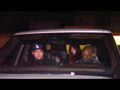 Kanye, Kim, And Nori Drive Rob Kardashian Home After Birthday Partying