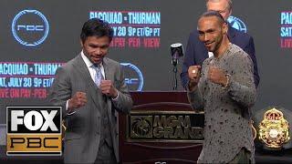 Manny Pacquiao vs. Keith Thurman   PRESS CONFERENCE   PBC ON FOX