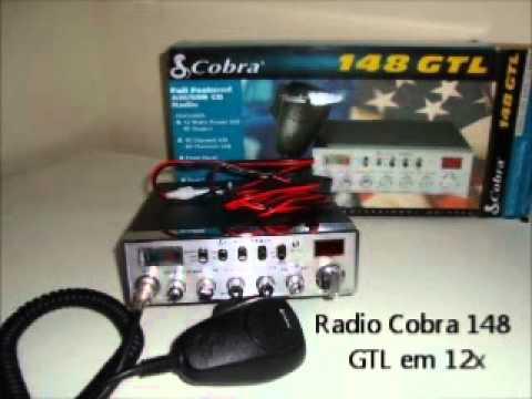 Radio px cobra 148 gtl 40 ch homologado em 12x