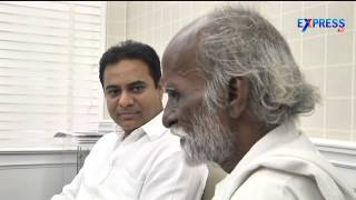 KTR Encourages Vedam Movie Fame Nagaiah By Offering One Lakh Help   Express TV