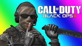 Black Ops 2 Private Match Funny Moments - Terroriser Making Wildcat Rage :D