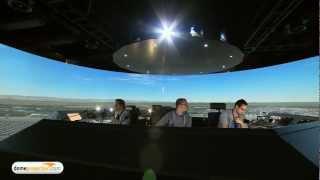 DFS Deutsche Flugsicherung 360° Tower Simulator by domeprojection.com