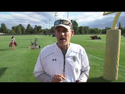 CSU football's first fall practice - Mike Bobo post-practice