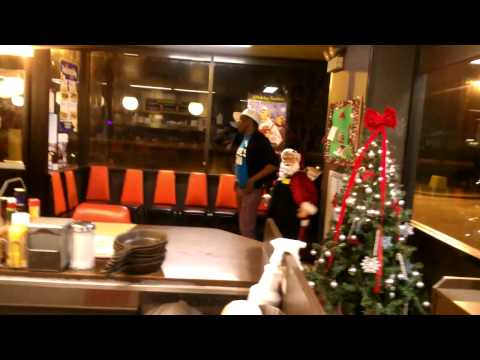 Booty Dancing With Santa at the Waffle House