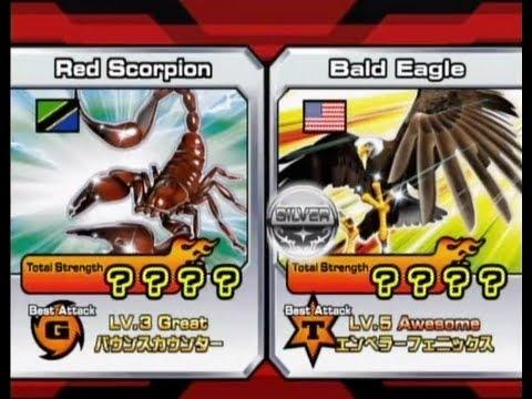 Animal Kaiser Red Scorpion vs Bald Eagle