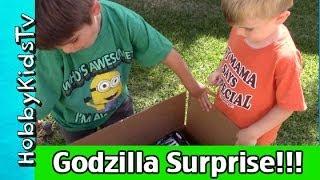 Download Godzilla HobbyKids Reaction to Open Box Surprise! 3Gp Mp4