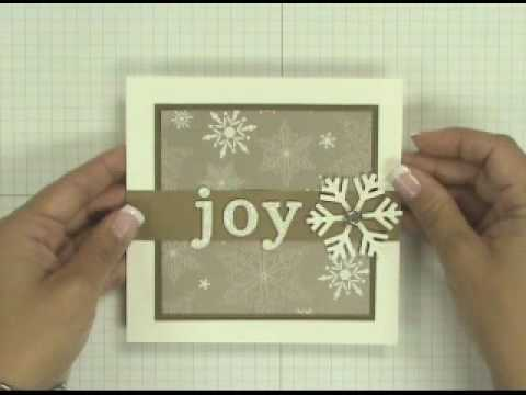 Stampin Up Tutorial Simple Christmas Card YouTube