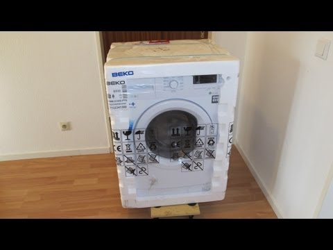 Beko WMB Waschmaschine / washing machine unboxing and first run