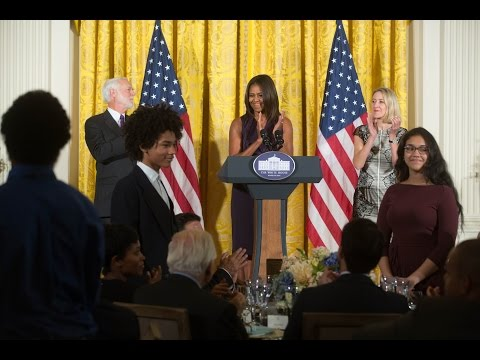 First Lady Michelle Obama Hosts the National Design Awards Luncheon